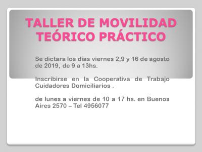 TALLER DE MOVILIDAD