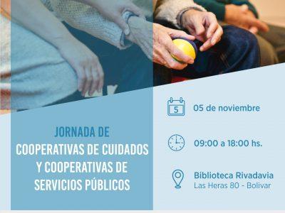 5 DE NOVIEMBRE 2019 V  JORNADAS DE COOPERATIVAS DE CUIDADOS Y COOPERATIVAS DE SERVICIOS PÚBLICOS  EN BOLIVAR (BS.AS.)