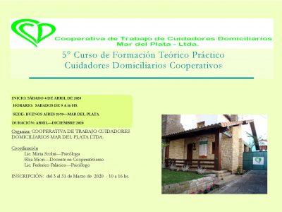 5° CURSO DE FORMACIÓN CUIDADORES DOMICILIARIOS COOPERATIVOS