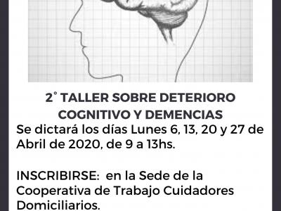 TALLER DE  DEMENCIA Y DETERIORO COGNITIVO